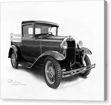 Model A Canvas Print by Christopher Bracken
