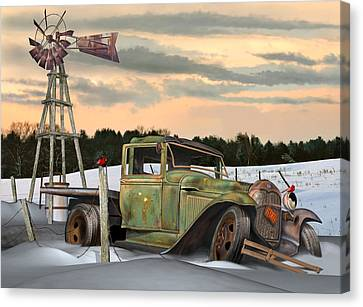 Model A Flatbed Canvas Print by Stuart Swartz