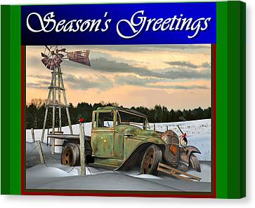Model A Season's Greetings Canvas Print by Stuart Swartz