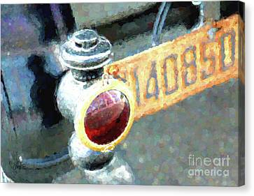 Model T Brake Light Canvas Print by Cheryl Rose