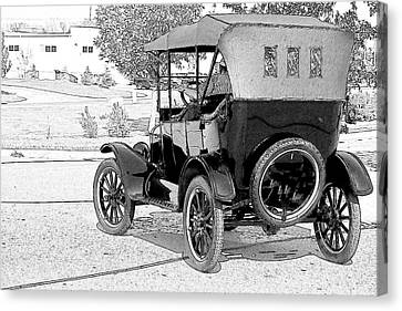 Canvas Print featuring the photograph Model T by John Hix