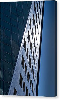 Canvas Print featuring the photograph Blue Modern Apartment Building by John Williams