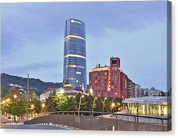 Canvas Print featuring the photograph Modern Architecture Bilbao Spain by Marek Stepan