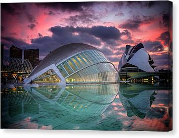Centre Canvas Print - Modern Architecture In Valencia  by Carol Japp