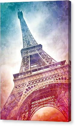 Modern-art Eiffel Tower 21 Canvas Print