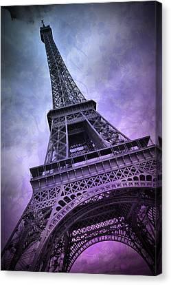 Modern Art Paris Eiffel Tower  Canvas Print by Melanie Viola
