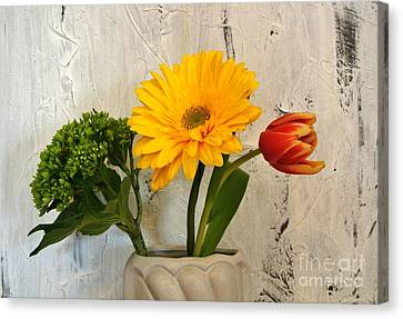 Canvas Print featuring the photograph Modern Bouquet by Marsha Heiken