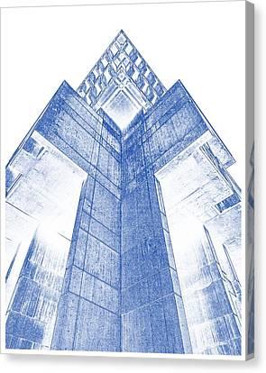 Architectural Blueprint Canvas Print