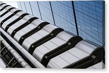 Lloyds Building Bank In London Canvas Print by John Williams