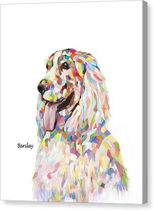 Modern Cocker Spaniel Canvas Print by Enzie Shahmiri