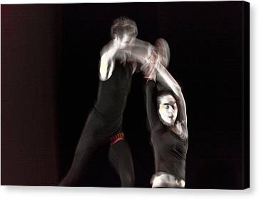 Modern Dance 14 Canvas Print by Catherine Sobredo