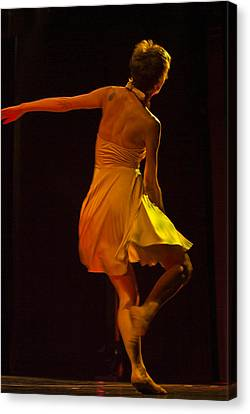 Modern Dance 15 Canvas Print by Catherine Sobredo