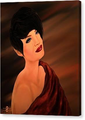 Modern Ethereal Beauty Canvas Print by Carol Sue Bushell-Bousman
