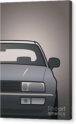 Modern Euro Icons Series Vw Corrado Vr6 Canvas Print by Monkey Crisis On Mars