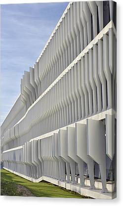 Canvas Print featuring the photograph Modern Facade Abstract by Marek Stepan