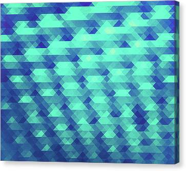Modern Fashion Abstract Color Pattern In Blue   Green Canvas Print by Philipp Rietz