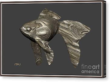 Modern Figurine Of Fish 30 Canvas Print