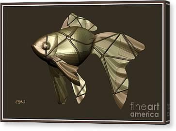 Modern Figurine Of Fish 34 Canvas Print