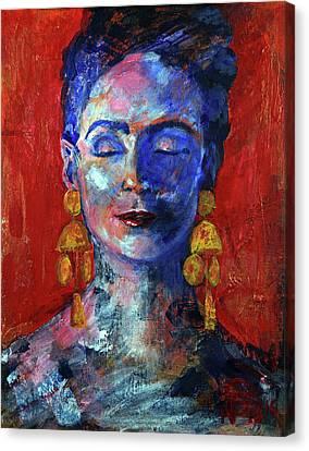 Modern Frida Canvas Print by Walter Fahmy