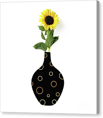 Modern Home I A Fresh Take On Floral Art Canvas Print by Tina Lavoie