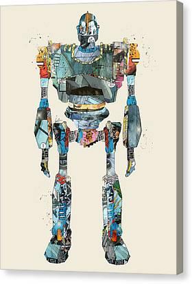 Modern Iron Giant Canvas Print by Bri B