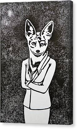 Black Tie Canvas Print - Modern Jackal by Amit Jacobs