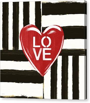 Modern Love- Art By Linda Woods Canvas Print