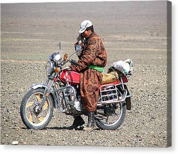 Modern Mongolia Canvas Print by Diane Height