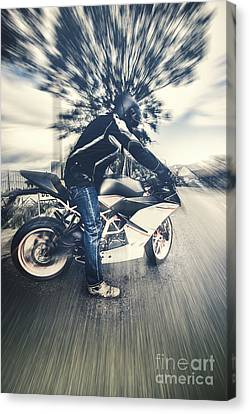 Modern Motorcyclists Canvas Print