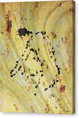 Dressing Room Canvas Print - Modern Nude Art 2 By Sharon Cummings by Sharon Cummings
