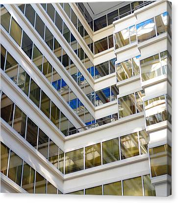 Modern Office Building Canvas Print by Valentino Visentini