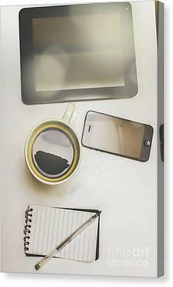 Modern Office Gadgets Canvas Print