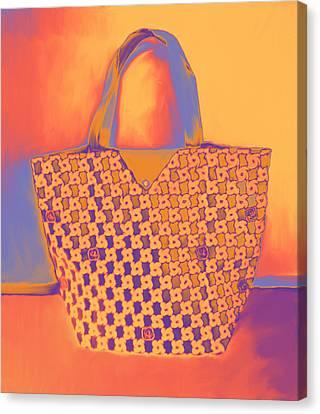 Modern Shopping Bag Canvas Print