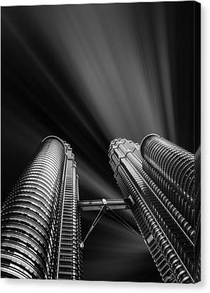 Black People Canvas Print - Modern Skyscraper Black And White Picture by Stefano Senise