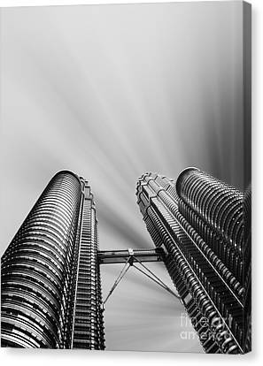 Modern Skyscraper Black And White  Canvas Print by Stefano Senise