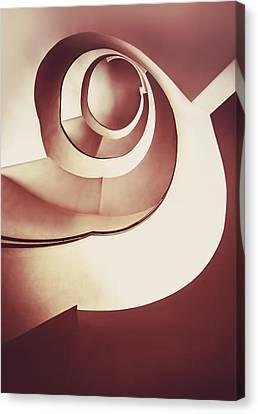 Modern Spiral Staircase Canvas Print by Jaroslaw Blaminsky