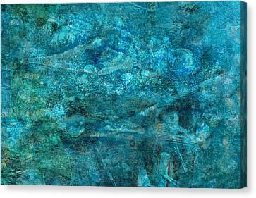 Modern Turquoise Art - Deep Mystery - Sharon Cummings Canvas Print by Sharon Cummings