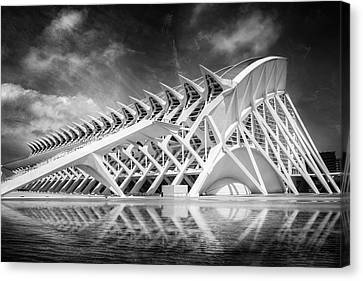 Abstract Building Canvas Print - Modern Valencia In Black And White  by Carol Japp