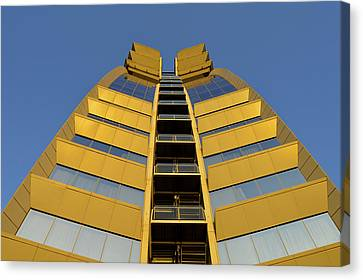 Canvas Print featuring the photograph Modern W Hotel Barcelona Spain by Marek Stepan