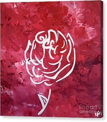 Modern White Rose Canvas Print by Jilian Cramb - AMothersFineArt