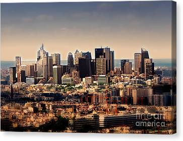 Modernity In Paris Canvas Print by Alessandro Giorgi Art Photography
