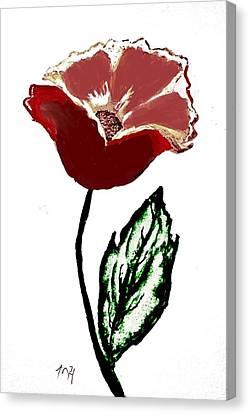 Modernized Flower Canvas Print by Marsha Heiken