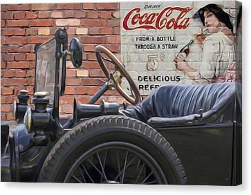 Modet T Vintage Coke Ghost Image Canvas Print by Jack Zulli