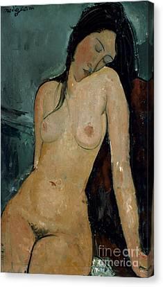 Modigliani: Nude, C1917 Canvas Print by Granger