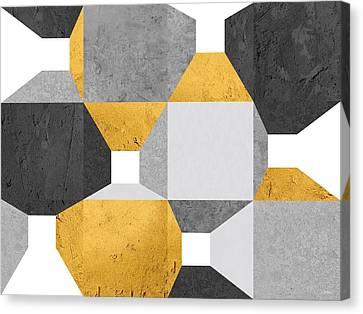 Modular Promenade Gold Canvas Print by Daniel Perfeito