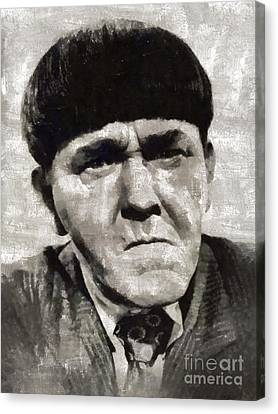 Glamor Canvas Print - Moe Howard, Vintage Entertainer by Mary Bassett