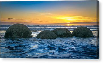 Moeraki Sunrise Canvas Print by Martin Capek