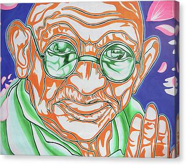 Canvas Print featuring the photograph Mohandas Karamchand Gandhi  by Juergen Weiss