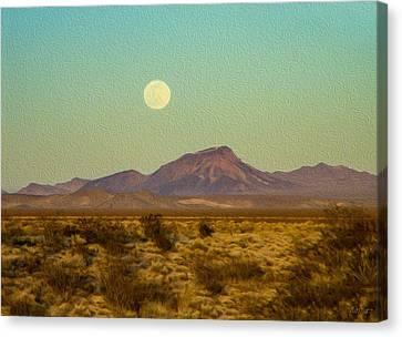 Mohave Desert Moon Canvas Print