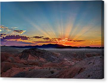 Mohave Sunrise Canvas Print by Mark Dunton